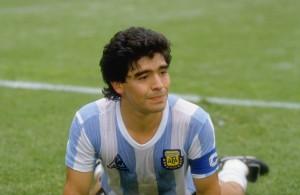 Cebollita genial. Diego Armando Maradona. Nacido en Juan Agustín García y Boyacá.