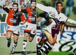 Facundo Sava y Esteban Fuertes. Cuatro y tres goles. Figuras de un partido inolvidable.