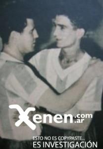 Trasvasamiento generacional. El abrazo de Bernabé Ferreyra a Vicente De la Mata.