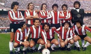 El equipo millonario que goleó 5 a 1 a Vélez en la final del Metro 1979.