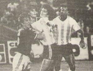 Rubén Tanucci y Jorge Cruz Cruz, dos puntales de aquel Racing cordobés.