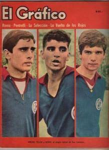 Arean, Telch y Veira. Tapa de El Gráfico. El alegre fútbol de San Lorenzo.